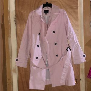 Cute Light Pink Trench Coat